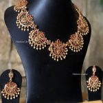 Matt Finish Half Moon Choker Set From Nakshatra Chennai