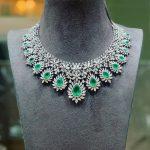 Mesmerising Diamond Necklace From P Satyanarayanan Sons
