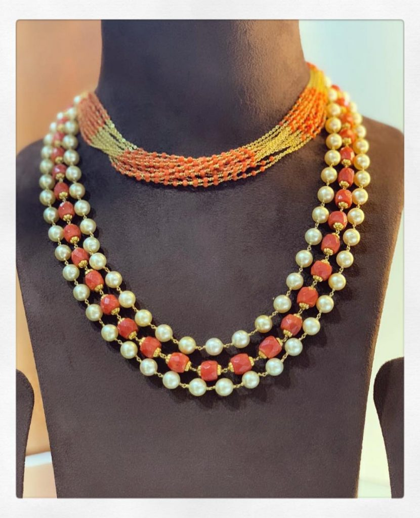 Pretty Pearl Necklace From Parnicaa