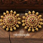 Pure Silver Gold Polish Earrings From Nakoda Payals