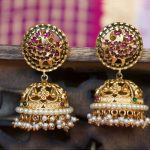 Simple Antique Jhumkas From Esma Jewellery