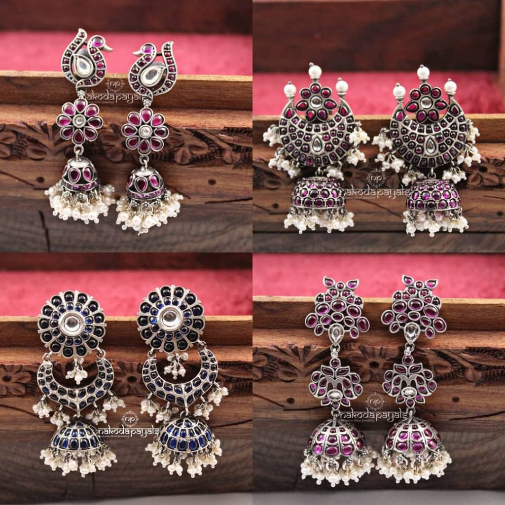 Stunning Silver Earrings From Nakoda Payals