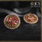 Stylish Gold Earstud From JCS Jewel Creations