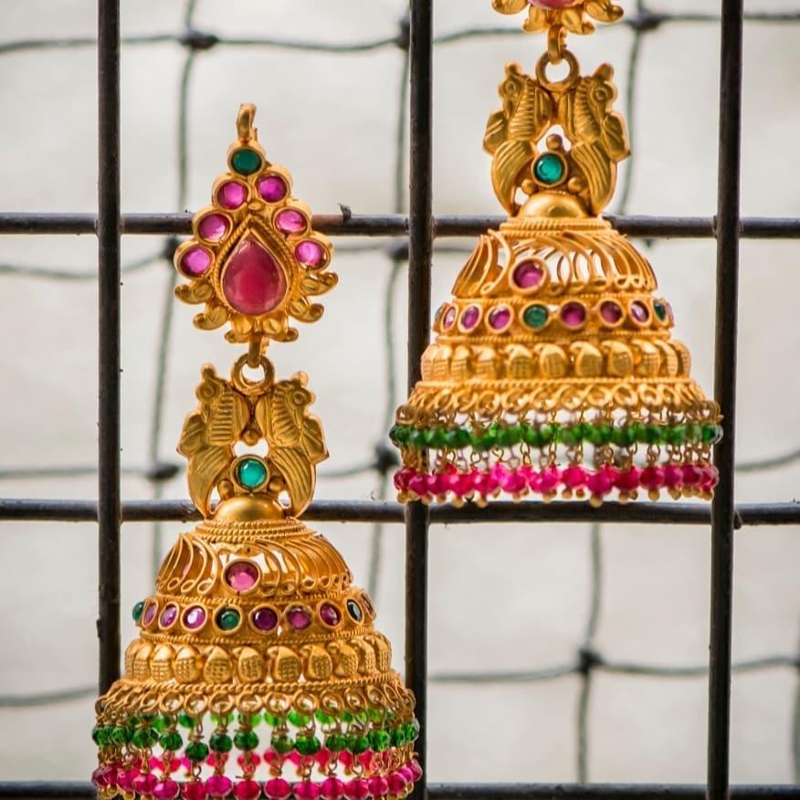 Traditional Jhumkas From 1 Gram Jewellery