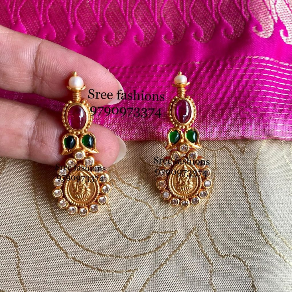 Unique Temple Earrings From Sree Exotic Silver Jewelleries