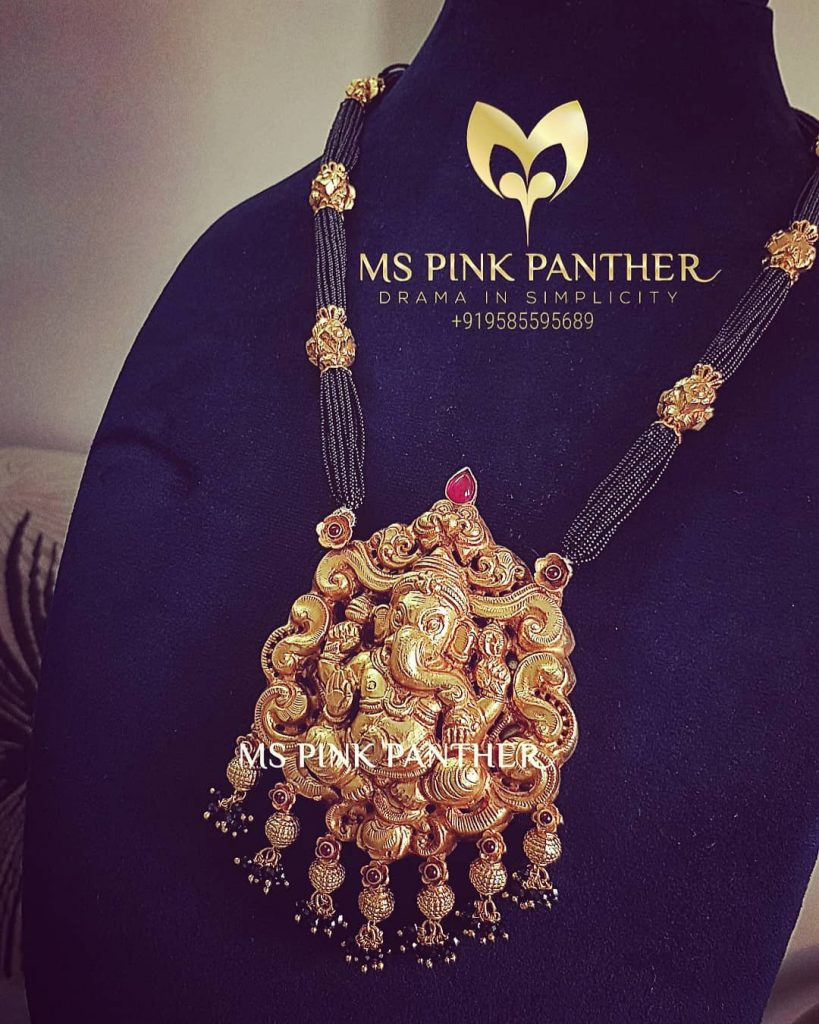 Unique Temple Necklace From Ms Pink Panthers