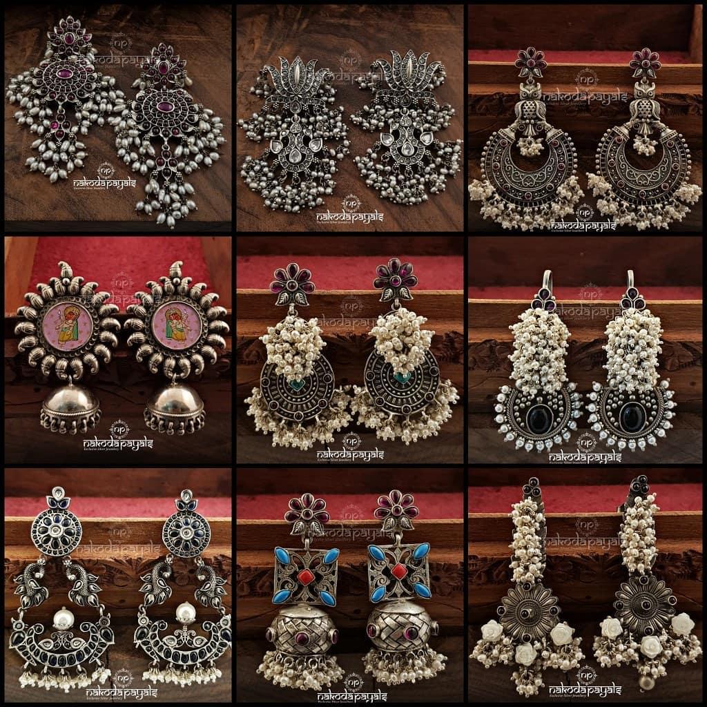 Adorable Silver Earrings From Naodapayals