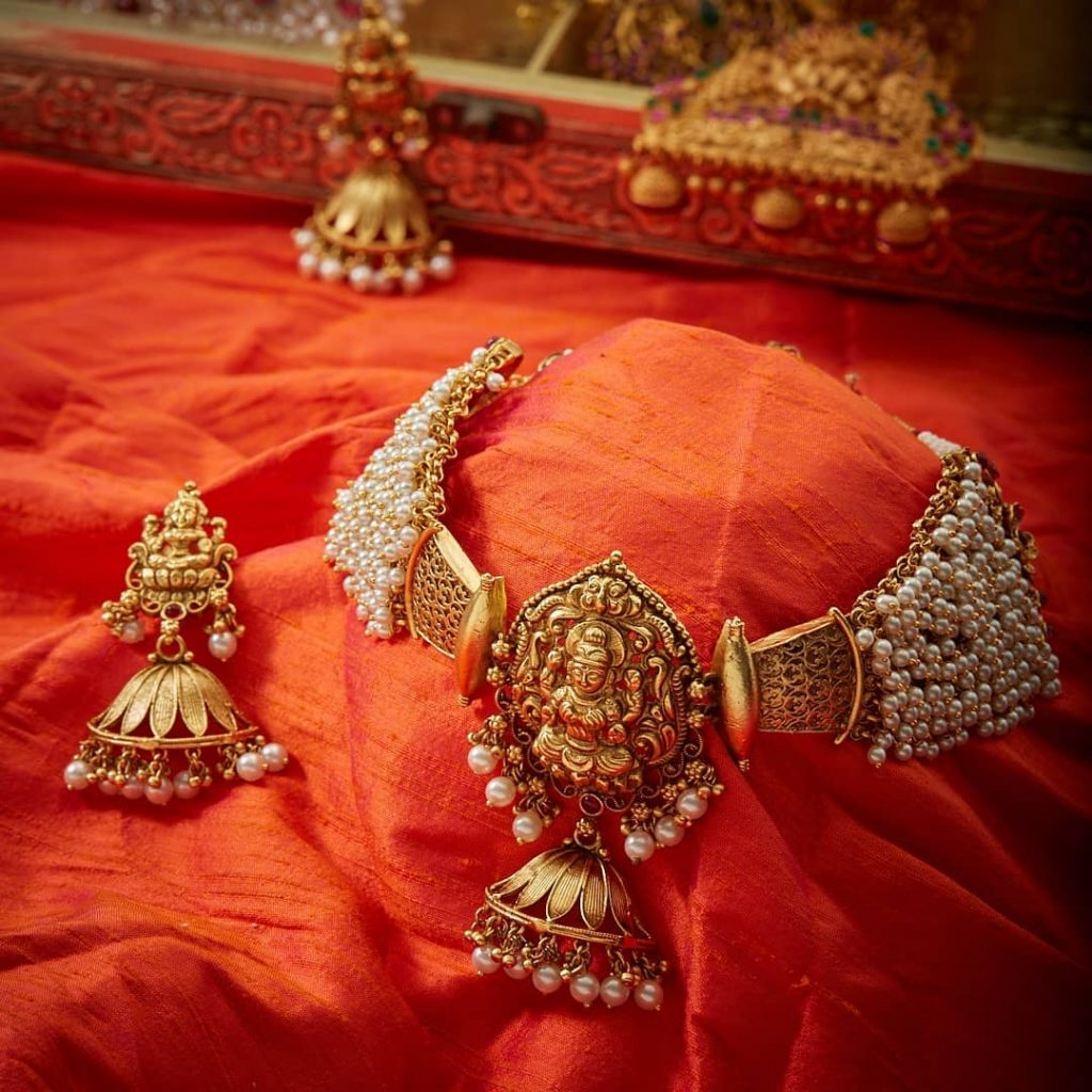 Antique Handcrafted Necklace Set From Kushal's Fashion Jewellery