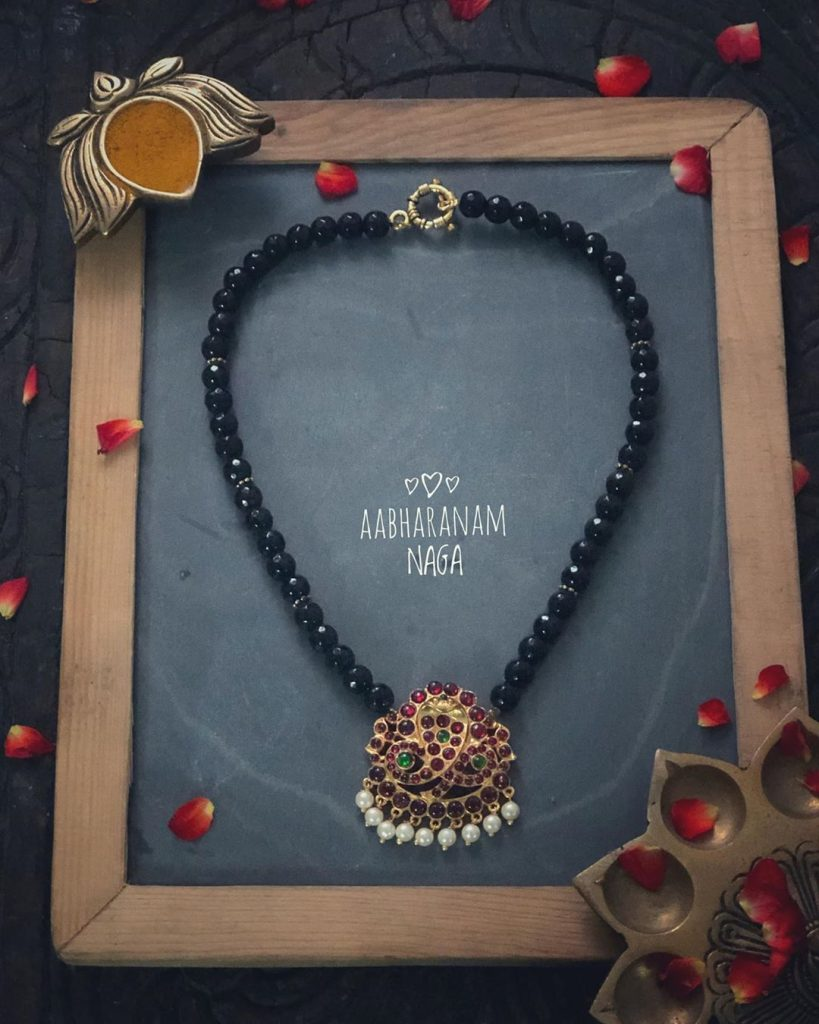 Attractive Beaded Necklace From Aabharanam