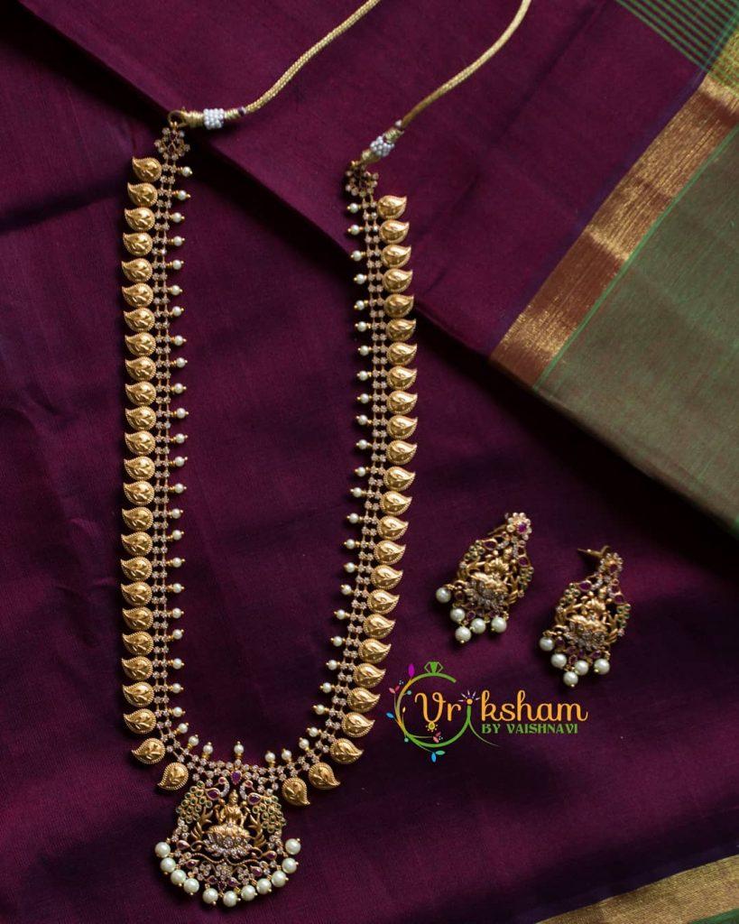 Beautiful Lakshmi Haaram From Vriksham