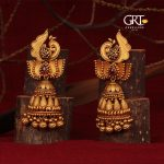 Classic Gold Jhumkas From GRT Jewellers