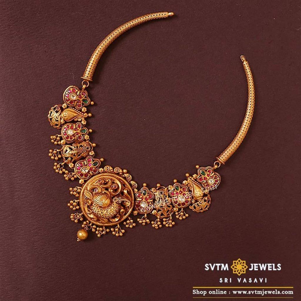 Classic Silver Necklace From Sri Vasavi Thanga Maligai