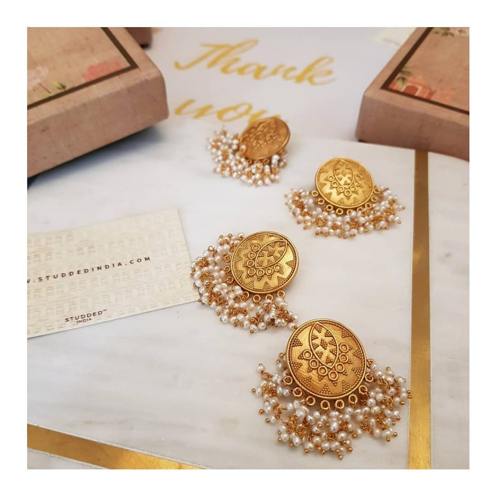 Cute Earrings From Studded India