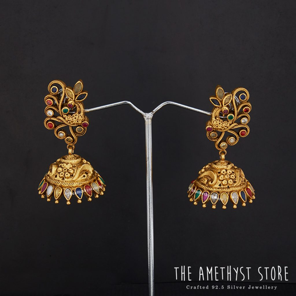 Cute Silver Jhumka From The Amethyst Store