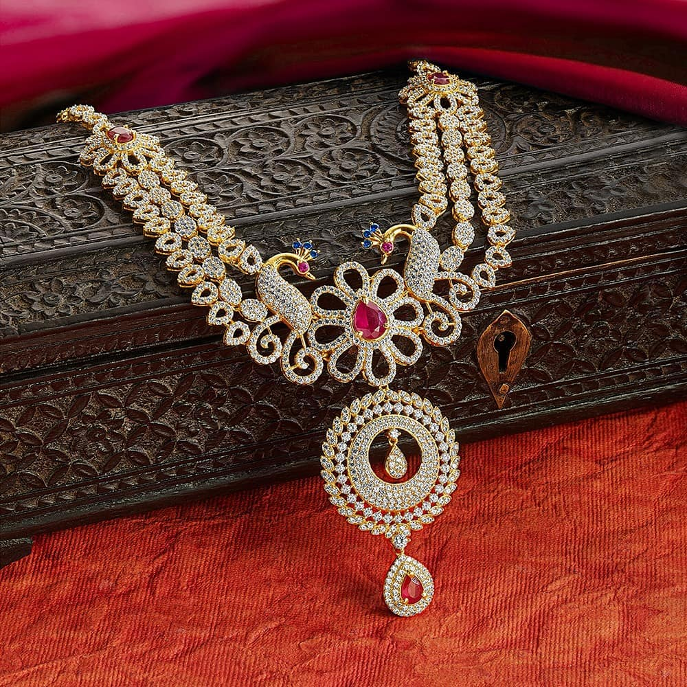 Delightful Gold Necklace From Kalyan Jewellers