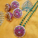 Ethnic Kundan Necklace Set From Rajatamaya