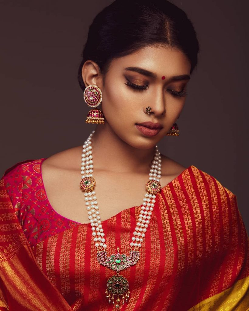 Ethnic Long Silver Necklace From Rajatamaya