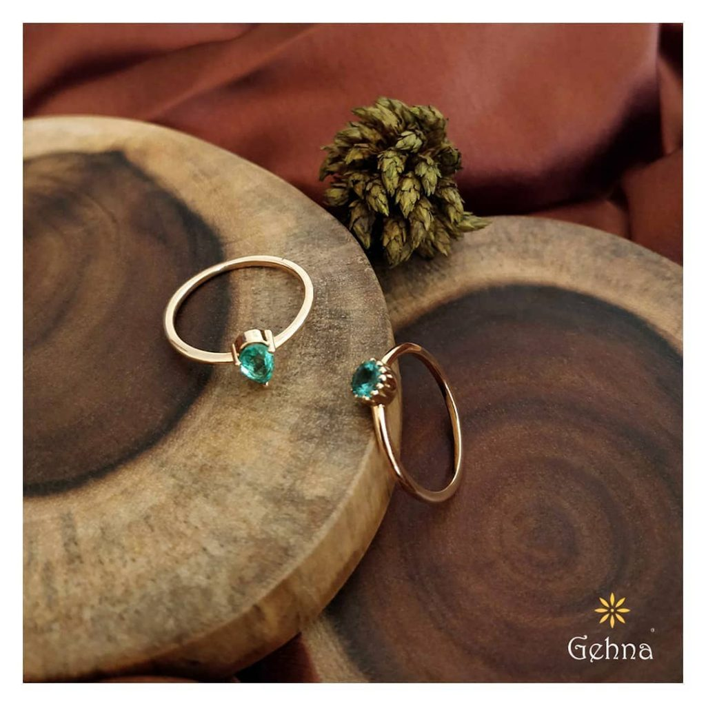 Exclusive Emerald Rings From Gehna India