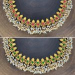 Gold Polish Reversible Temple Necklace From Silver Stone Matapayals