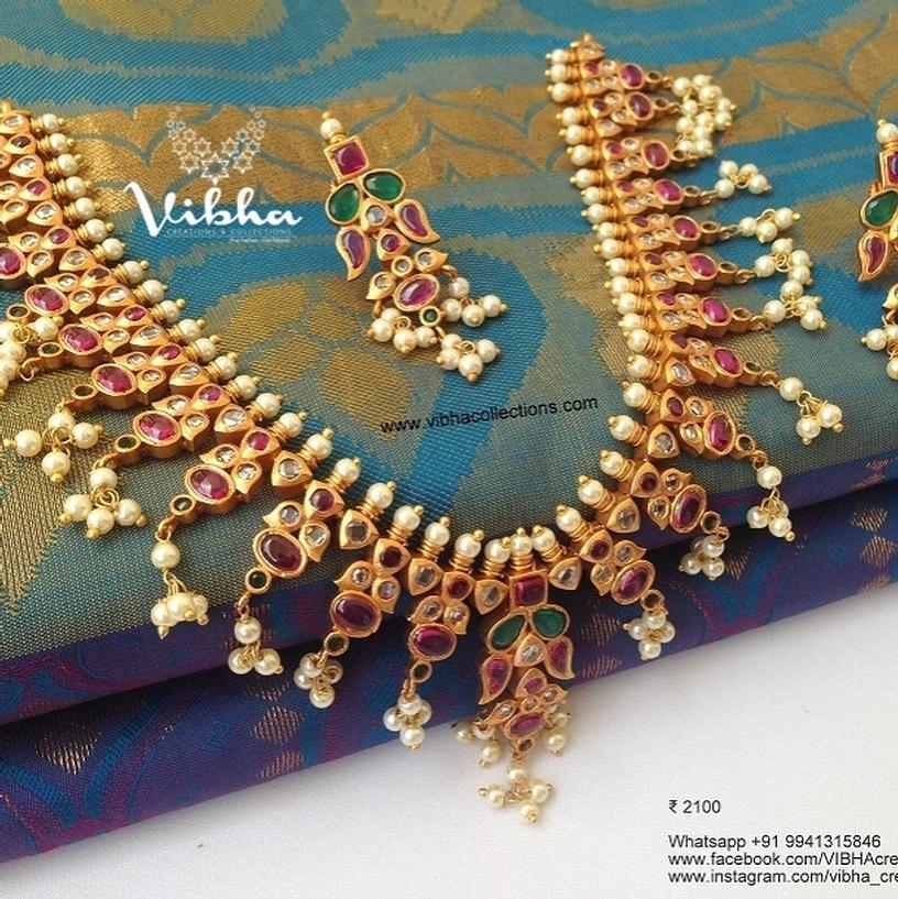 Gorgeous Guthapoosalu Kemp Necklace From Vibha