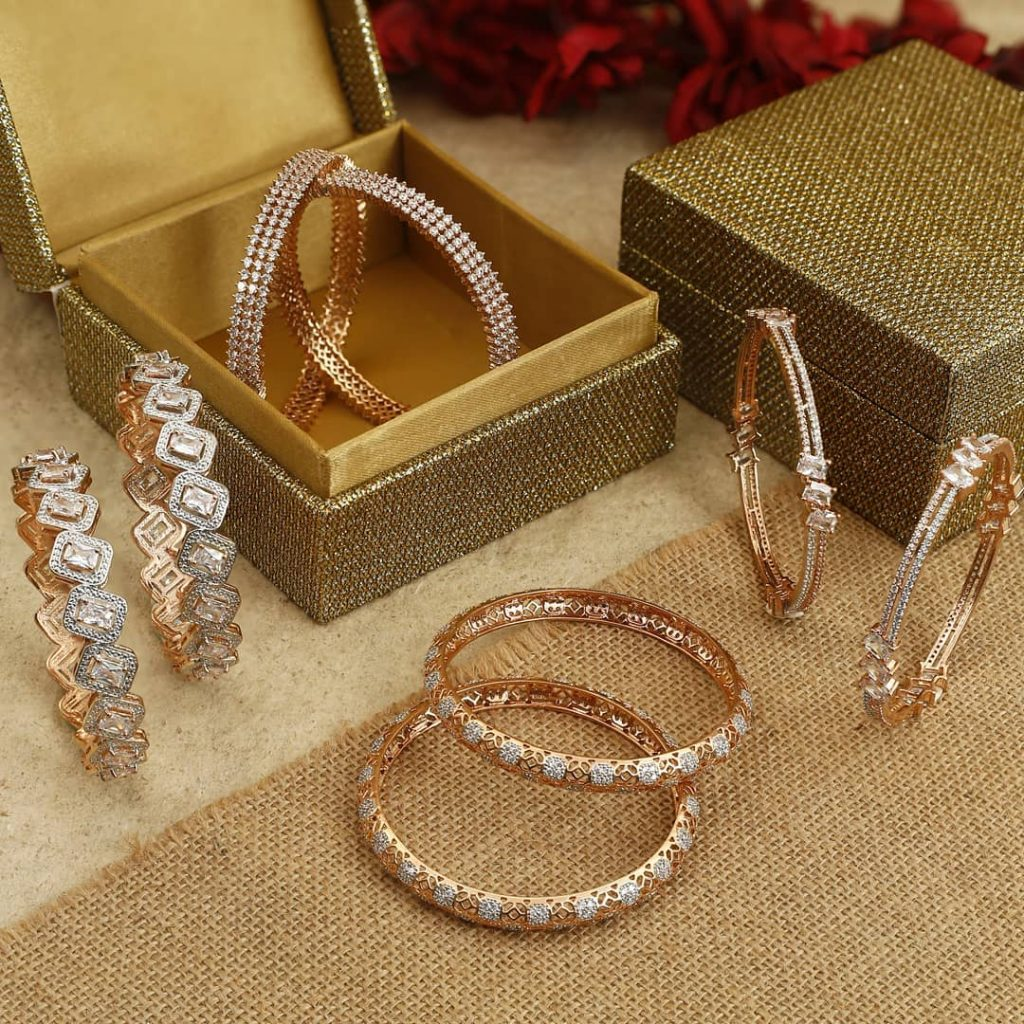 New Arrival American Diamond Bangles From The Bling Bag
