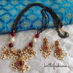 Pretty Black Beaded Necklace From Kirthi Fashions