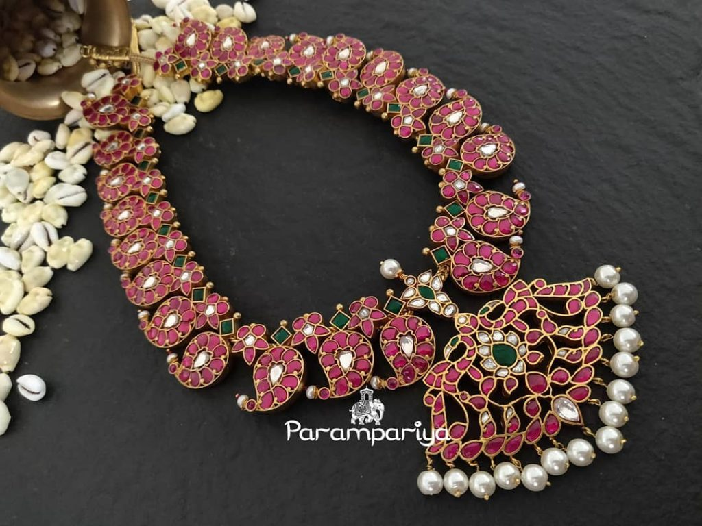 Silver Kundan Necklace From Parampariya