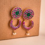 Silver Gold Plated Kundan Earrings From 925 Silver