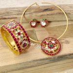 Simple Kundan Necklace Set From Be Spoke Jadau