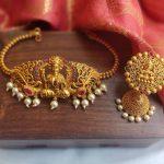 Simple Lakshmi Choker And Jhumkas From Daivik