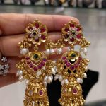 Stunning Gold Plated Silver Jhumkas From Samskruthi Jewellers