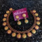 Stunning Lakshmi Coin Necklace Set From Nakshatra Chennai