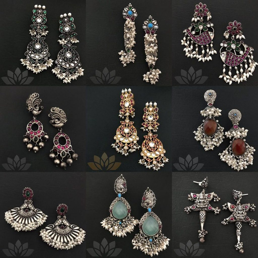 Trendy Silver Earring Collections From Prade Jewels