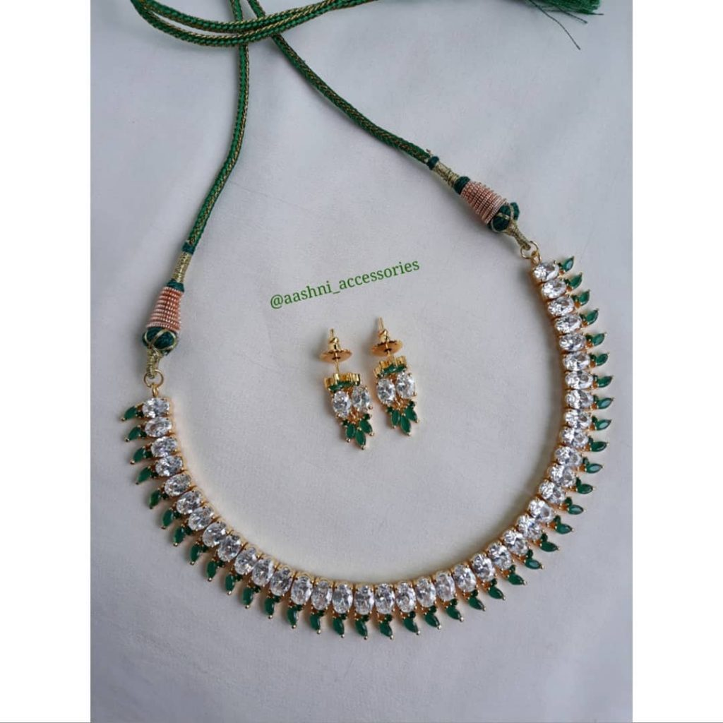 Trendy Stone Necklace From Aashni Accessories