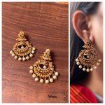 AD Matte Half Jhumka Chaand Earrings From Zahana