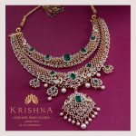 Adorable Necklae From Krishna Jewellers Perals And Gems