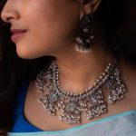 Amazing Lotus Silver Necklace From Prade Jewels