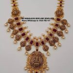 Attractive Gold Temple Necklace From Sri Mahalakshmi Gems And Jewellers