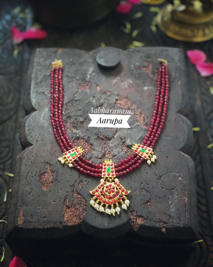 Beautiful Decorative Necklace From Abharanam