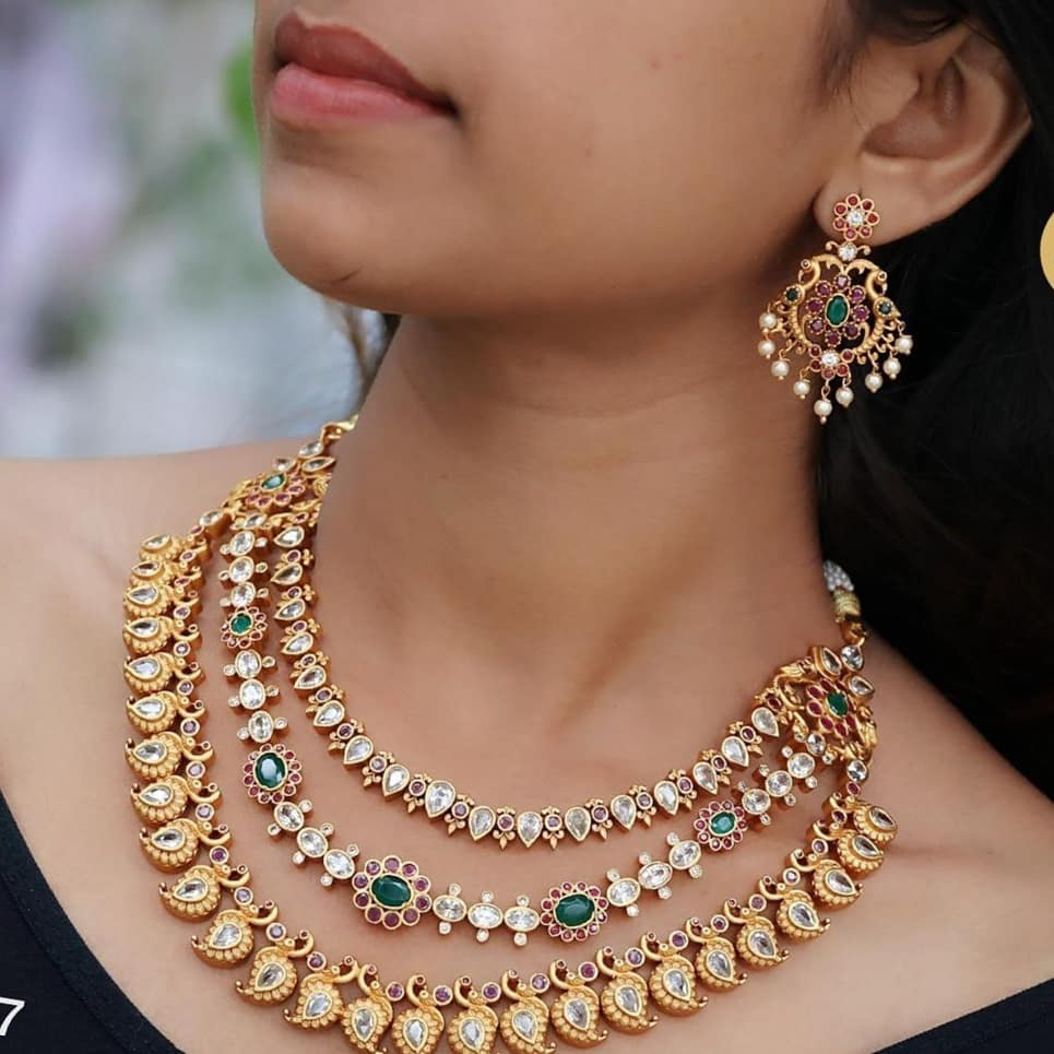 Beautiful Layered Necklace From 1 Gram Jewellery