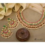 Beautiful Pearl Necklace Set From Meermankaa