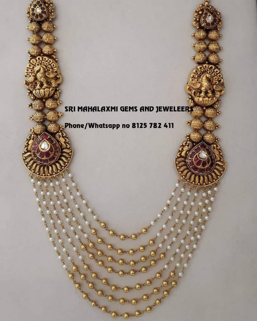 Classic Gold Necklace From Sri Mahalakshmi Gems And Jewellers