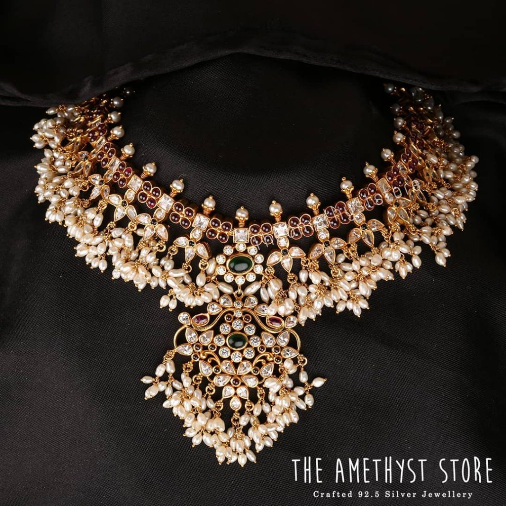 Classic Gold Plated Silver Necklace From The Amethyst Store