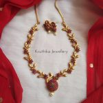 Classic Necklace Set From Kruthika Jewellery