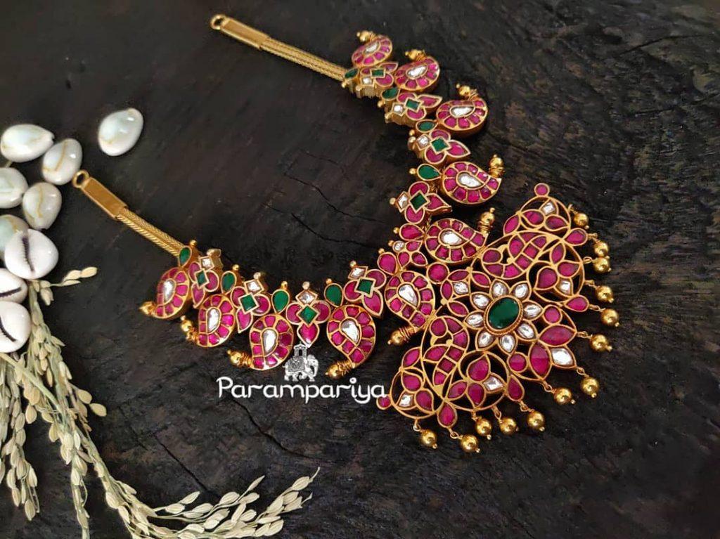 Classic Silver Kundan Necklace From Parampariya