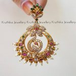 Cute Matte Finish Chandbalis From Kruthika Jewellery