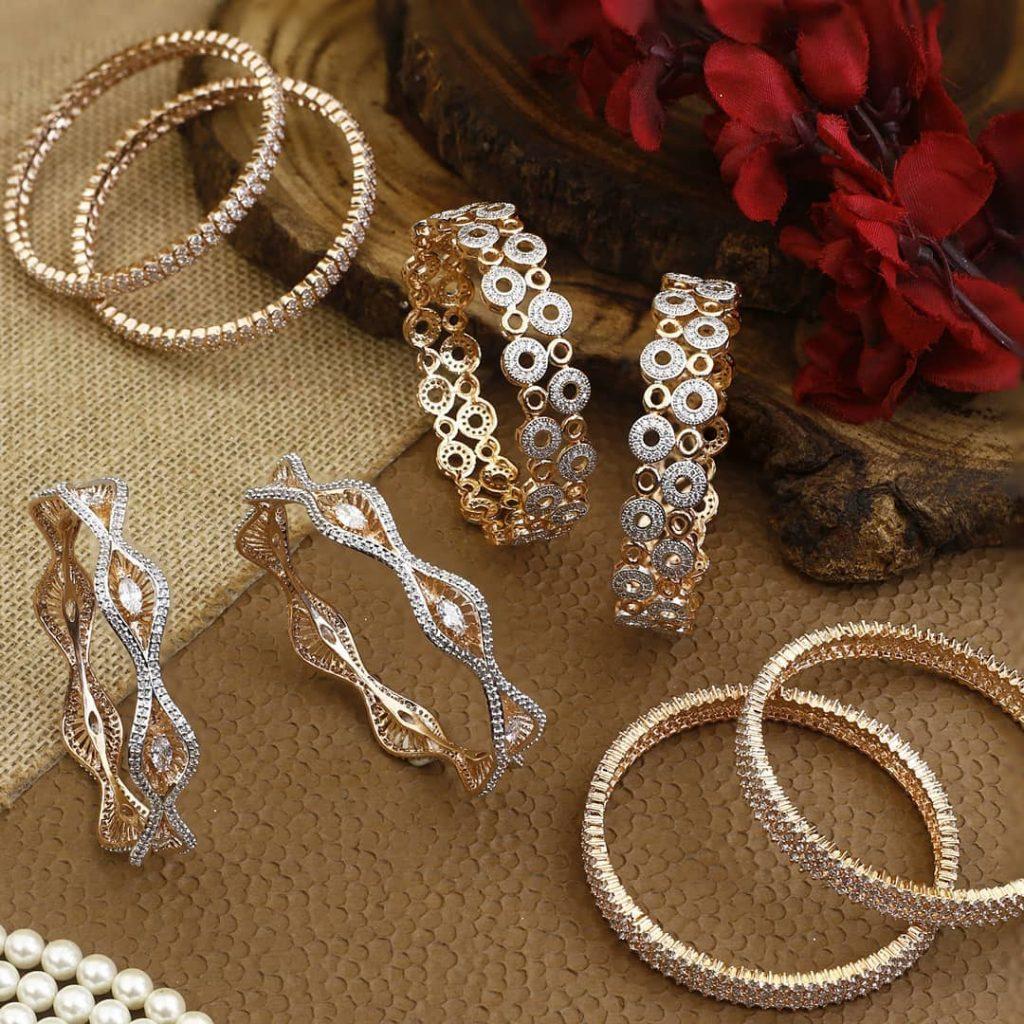 Designer American Diamond Bangle From The Bling Bag