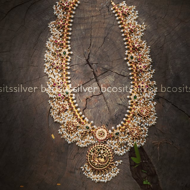 Gorgeous Guttapusalu Silver Necklace From Bcos Its Silver