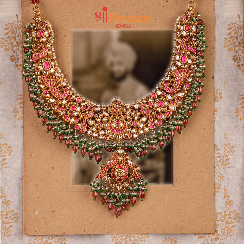 Grand Bridal Necklace From Shriparamani Jewels