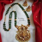 Green Beads Lakshmi Devi Maala From Kruthika Kewellery